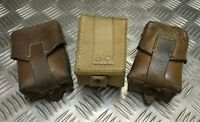 Genuine Vintage Military Issued Single Leather Ammo / Utility Small Pouch Used