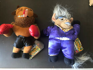 Infamous Meanies Donkeying & Mike Bison Plush 1998 with Tags 7