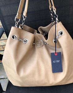 Genuine Armani Jeans Beige / Nude large Slouch shoulder / hand bag BNWT