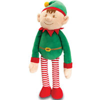 CHRISTMAS ELF Soft Teddy Toy with Dangly Legs by Keel Toys - MEDIUM - XMAS GIFT