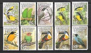 TRINIDAD & TOBAGO 1990 BIRDS TO $5 (U)
