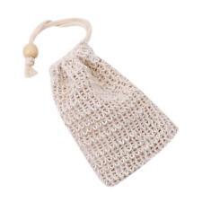 Ramie Shower Exfoliator Sponge Pouch Blister Mesh Soap Saver Bag Foaming Net IT