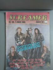 Screamer magazine March 90 Scorpions