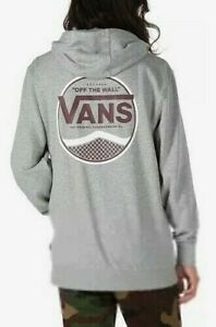 VANS Circle Side Pullover Hoodie Boys L 12-14 Gray New