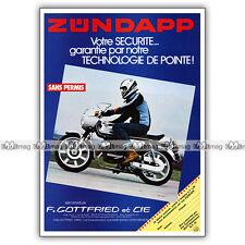 PUB ZUNDAPP KS 50 - Original Moped Advert / Publicité Cyclo 1979