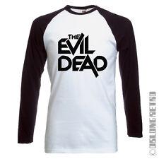 Retro long sleeved The Evil Dead T SHIRT - horror movie film - baseball style