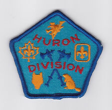 SCOUT OF CANADA - CANADIAN SCOUTS ONTARIO (ONT) HURON DIVISION Patch