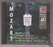 MOZART SERENATA N 10 SONATA FOR BASSOON & CELLO  CD