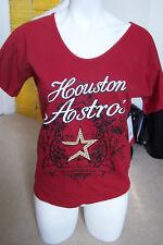 ALYSSA MILANO MLB Houston Astros T-Shirt w/Rhinestone Logo Size MEDIUM