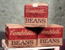 Danbury Mint Campbell's Bean Cases (3) w Pallet For Your Model Train Display