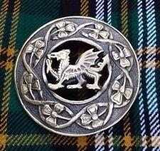 "New Celtic Welsh Dragon Fly Plaid Brooch 3""/Kilt Fly Plaid Brooch Dragon Antique"