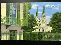 Vintage Postcard>1930-1945>Iron Words and St. John's Cathedral>Savannah>Georgia