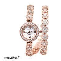 """75% OFF Striking White Toapz Lady HOT 18K Rose Gold Jewelry Quartz Watch 12"""" 29W"""
