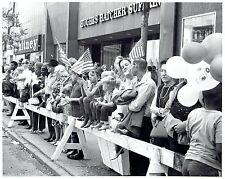 1970 Original Photo street scene at the Memorial Day Parade in Detroit Michigan