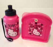 Sanrio Hello Kitty Squiggles 2012 Sandwich Box & Water Bottle BPA Free NEW!!