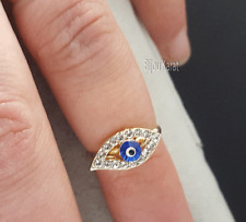Nazar Evil Eye Ring Fingerspitzenring Goldring Ring Blue Eye Yüzük Verstellbar