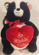"""10"""" ROMEO SKUNK with HEART New 2019 Bearington Bear VALENTINE'S DAY"""