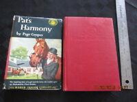 PAT'S HARMONY Page Cooper hcdj 1952 hc1254 ill Oliver Grimley girl horse RARE