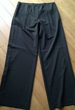 ISDA & CO. Dark Olive Green Pants With Fabric Belt Pleated Front Size 12 NWT