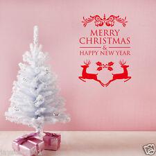 stickers vinyle Joyeux Noël Bonne Année MUR / autocollant vitre pour maison
