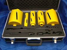 Diamond core drill set 11-piece in case with wheels, 38-127mm, Diamondjack brand