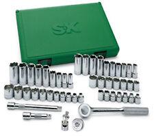 """SK Tools 94549 3/8"""" Dr 6 Pt STD 7 Dp SAE 7 Met Imp Skt w/Univ Joint Set 49Pc"""