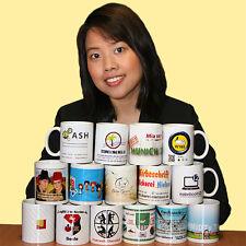 100 Tassen mit Bild, Foto, Motiv, Logo, Text, Werbung * Spülmaschinenfest
