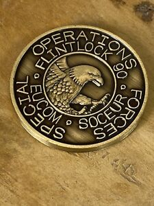Special Operations Forces Europe Exercise FLINTLOCK 90 Challenge Coin #587