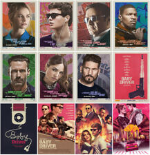 12pc Baby Driver Movie 2017 Mirror Surface Postcard Promo Card Poster Card A01