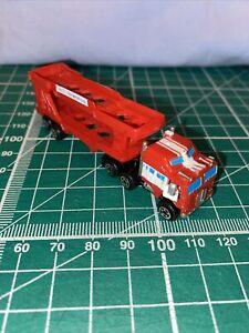 Micro Machines, Galoob, Semi Truck Car Carrier, Good Condition RARE Free Po