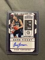 Omer Yurtseven  2020 Panini Contenders Draft Picks GAME TICKET RED FOIL AUTO