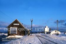 Canadian National Rwy     Caplan  Quebec 1976     ***** Packet of 7 photos****