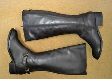 Penny High Leg  Leather Boots - Uk 41      (C11)