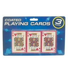 3 New Decks Of Long Lasting Classic Traditional Playing Cards Poker Blackjack
