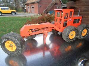 vintage tonka orange steel road grater mr-970 1976 - 1977 nice original played w