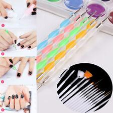 20x UV Gel Nail Art Design Set Dotting Painting Drawing Polish Brush Pen Tool UK