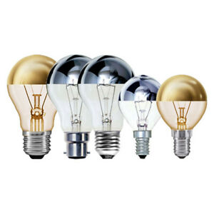 Crown Silver or Gold Top Dimmable Bayonet & Screw Fitting Light Bulbs