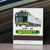 Vintage Matchbook N3 Garrett Freightlines Semi Truck Trucking California Auto