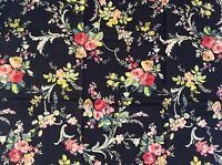 RPFGA21A Shabby English Garden Rose Bouquet Country Floral Cotton Quilt Fabric