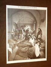 Terremoto in Calabria 23 ottobre 1907 Prime cure ai feriti di Ferruzzano