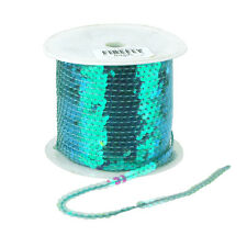 Metallic Sequins Trim Strand Ribbon, 1/4-Inch, 100 Yards
