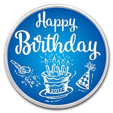 1 oz Silver Colorized Round - APMEX (Birthday Blue) - SKU: 117990
