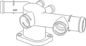 VW New Beetle 1998-2010 1Y7 9C1 1C1 Water Flange Cooling System Part Left