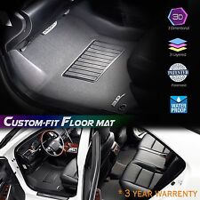 Maxpider 3D 3 Layered Carbon Fiber Custom Fit TOYOTA YARIS FloorLiner Set Black