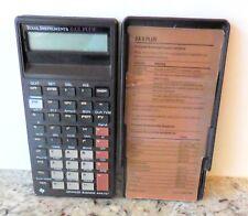 Texas Instruments - Ba Ii Plus Advanced Business Analyst w/ Cover & Inst (Euc)