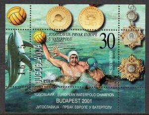 Yugoslavia Scott #2528 VF MNH 2001 Water Polo Champs Souvenir Sheet