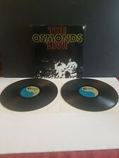 THE OSMONDS LIVE 2X VINYL LP ALBUM 1972 MGM RECORDS ORIGINAL V.G. CONDITION