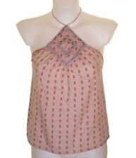 Bnwt Women's French Connection Embroidered Strappy Top Cami Spaghetti Pink