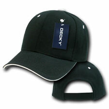 New Plain Baseball Hat Sandwich Curved Bill Ball Cap Hats Black/White