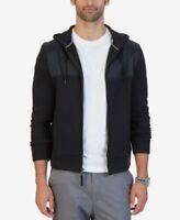 Nautica Tech Fleece Hoodie True Black Mens Size Large New 823283797791